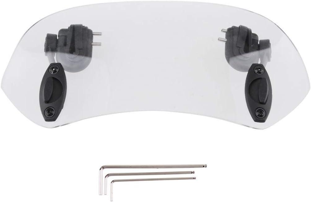 HANEU 28cm Deflector de extensión de parabrisas de motocicleta con clip universal