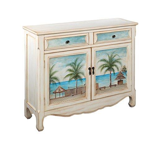 2 Door Painted Cupboard - Coast to Coast 14124 Two Drawer Two Door Cupboard