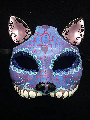 Day of the Dead Halloween Masquerade Mask Dia De Los Muertos Purple Inspired (Dia Del Los Muertos Costume)