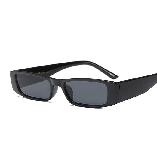 9a437dbb532e Mini Rectangle Sunglasses Men Vintage Fashion Sun Glasses for Women  Accessories (full black)