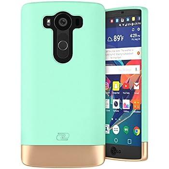 LG V10 Case, Encased Ultra Thin (2016 SlimShield Edition) Full Coverage, Hybrid Tough Shell (Mint Green)