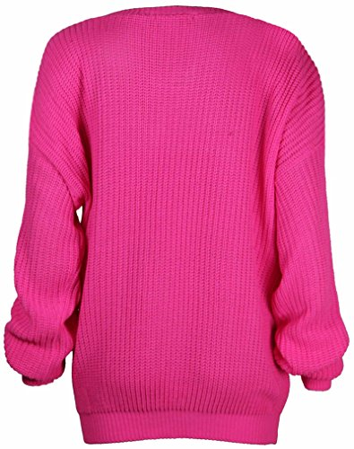 Surdimensionn Haut Pull Purple Hanger Tricot TqnIwYxFt1