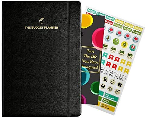 Undated Finance Journal Notebook with Planner Stickers Budget ...