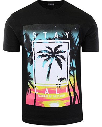 Planet Margarita - ShirtBANC Stay Cali Mens Shirts Paradise of The Planet California Republic (Stay Cali Black, S)