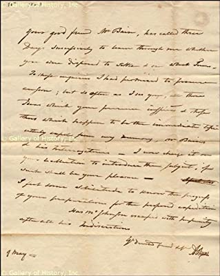 Vice President Aaron Burr - Autograph Letter Signed - May 9