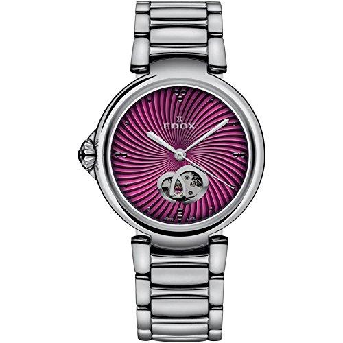 Edox Women's 85025 3M ROIN LaPassion Analog Display Swiss Automatic Silver-Tone Watch
