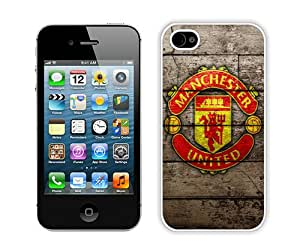Fashionable iPhone 4 4S Case ,Unique And Lovely Designed Case With Manchester United 7 White iPhone 4 4S Cover Phone Case