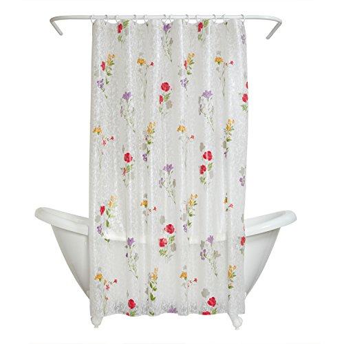 Zenna Home Wild Flower Peva Shower Curtain Liner, Floral
