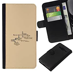 NEECELL GIFT forCITY // Billetera de cuero Caso Cubierta de protección Carcasa / Leather Wallet Case for Samsung Galaxy Core Prime // Lucha Reglas del Club