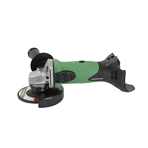 Metabo HPT G18DSLQ4 18V Cordless 4-1 2 Angle Grinder, Tool Only – No Battery, Compatible w Hitachi 18V Lithium Ion Slide-Type Batteries, High Torque Motor, Elastomer Covered Handle