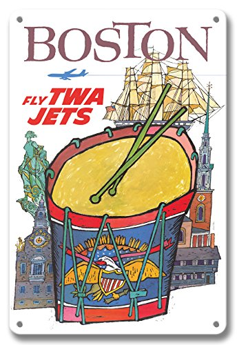 Pacifica Island Art 8in x 12in Vintage Tin Sign - Boston for sale  Delivered anywhere in USA