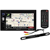 Planet Audio PNV9650RC Double Din, Touchscreen, Bluetooth, Navigation, DVD/CD/MP3/USB/SD AM/FM Car Stereo, 6.5 Inch Digital LCD Monitor, Wireless Remote, Rearview License Plate Mount Camera Included
