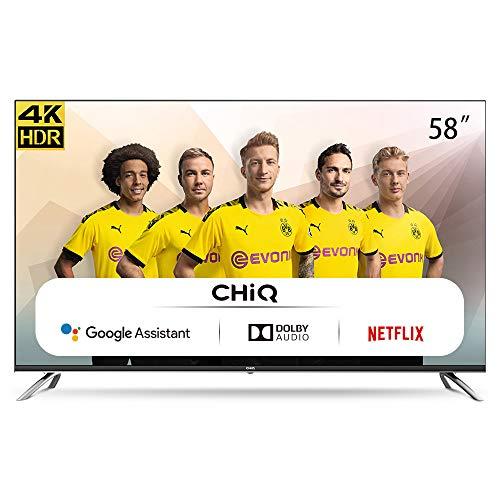CHiQ U58H7A – 58 inch 4K Ultra HD – Android 9.0 – Chromecast – Dolby Audio
