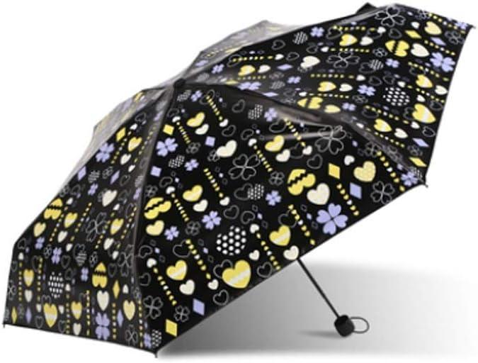 Style : 3# Wuzhongdian Lightweight Sun Protection Pocket Umbrellas Wind and UV Protection PTFE Coated Travel Umbrellas Collapsible Sun Umbrellas Lightweight