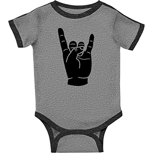 inktastic - Rocker Horns Infant Creeper 6 Months Ringer Heather and Smoke 18b1d ()
