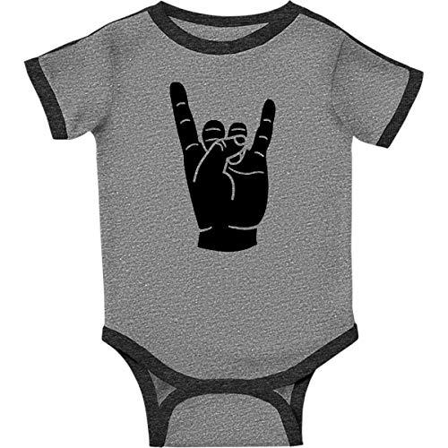 inktastic - Rocker Horns Infant Creeper 18 Months Ringer Heather and Smoke 18b1d ()