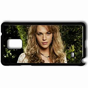 Personalized Samsung Note 4 Cell phone Case/Cover Skin Amanda Righetti Blonde Face Curls Black