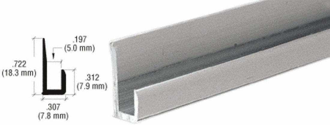CRL Satin Anodized Aluminum 3/16'' ''J'' Channel - 12 ft Long