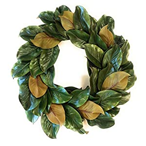 Down Home Designs Realistic Artificial Southern Magnolia Wreath Door Hanger (20 Inch) 1