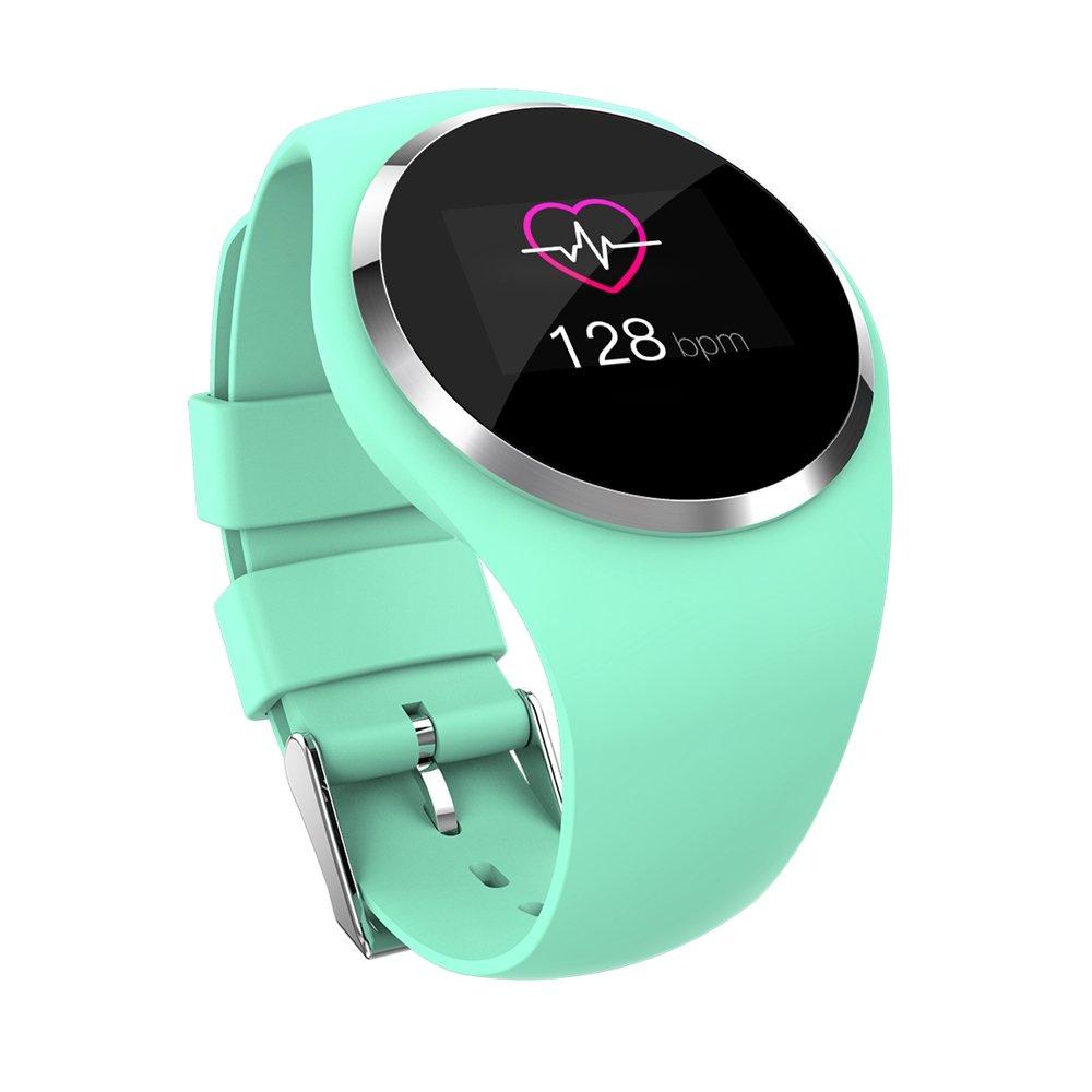 Fitness Reloj de pulsera con pulsómetro resistente al agua IP67Fitness Tracker Actividad tracker Pulso Relojes Bluetooth Smart reloj de pulsera podómetro, color verde