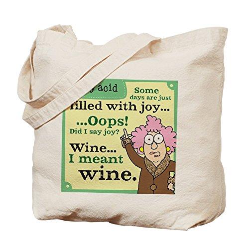 CafePress–Aunty Acid: riempita di vino–Borsa di tela naturale, panno borsa per la spesa