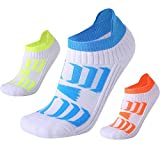 Neaxon Men's Low Top Sports Socks Best Basketball Running Bicycle Badminton Tennis Hiking Training Travel (3 Pairs)