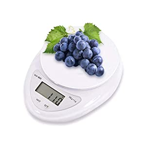 Digital Food Kitchen Scale, Food Scale, Digital Kitchen Weight for Cooking, Baking & Dieting, LCD Digital Display, Auto Off Function, White Scale with Battery Included