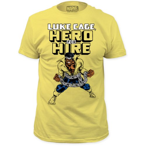 Luke Cage - Hero For Hire (slim fit) T-Shirt Size L - Extended Cage