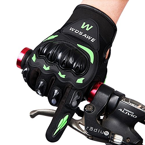 WOSAWE Off-road Vehicle Motorcycle Riding Gloves Full finger With Hard Shell Anti Fall Gloves (Random: Color Size)