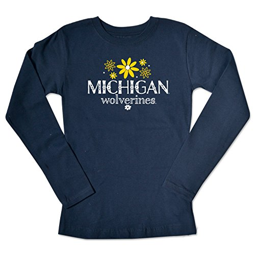 College Kids NCAA Michigan Wolverines Girls Long Sleeve Tee, Size 8-10 /Small, ()