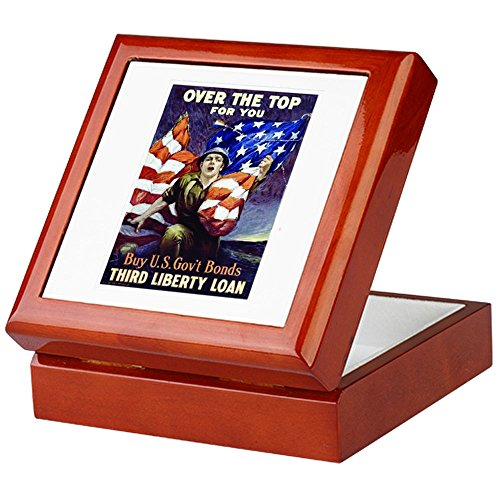 CafePress - Third Liberty Loan - Keepsake Box, Finished Hardwood Jewelry Box, Velvet Lined Memento Box