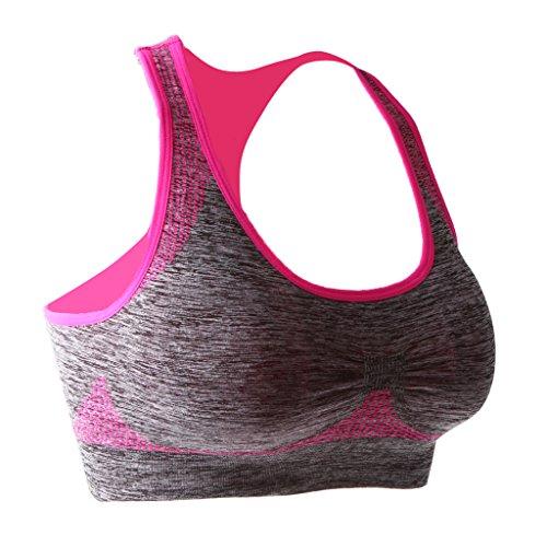MagiDeal Sujetador Sin Costura Mujeres Deportivo Ropa Interior Shapewear Cómodo Suave Estilo Jersey De Mod Rosa