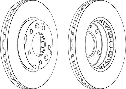 set of 2 Ferodo DDF1629 Brake Disc