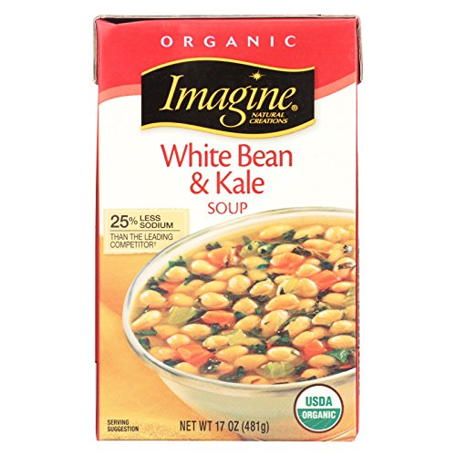 Imagine Foods White Bean and Kale Soup - Organic - Case of 12 - 17 oz.