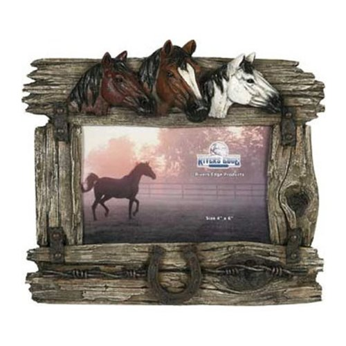 Amazon.com: River\'s Edge Products 3 Horse with Barbed Wire Picture ...
