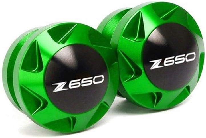 Color : Z650 Logo Black Motorradschutz St/änder Motorrad-Zubeh/ör Schrauben for Kawasaki Z800 2012-2016 Z650 2017-2020 Rahmen Swingarm Spools Slider