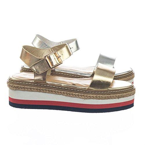 70s Wrap - 70s Retro Jute Wrap Espadrille Flat Platform Flatform Sandal, Treaded Sole