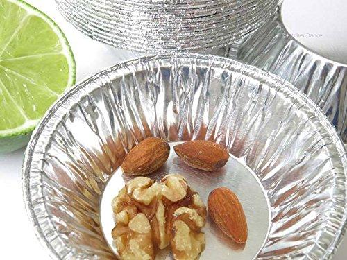 KitchenDance 3'' Disposable Aluminum Tart Pans/Mini Pie Pans #301- Pack Of 100 by KitchenDance (Image #3)