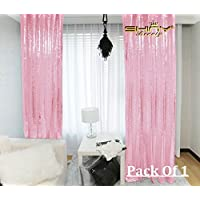 ShiDianYi Sequin Backdrop-Pink-2FTX8FT Shimmer Sequin Fabric Curtain Wedding Props for Photo Booth