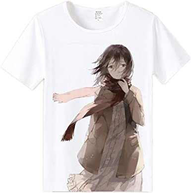 PANOZON Camiseta Aot para Ni/ños Ataque a los Titanes Camisa Manga Corta de Anime Attack on Titan