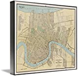 Wall Art Print entitled Vintage Map Of New Orleans Louisiana (1919) by Alleycatshirts @Zazzle