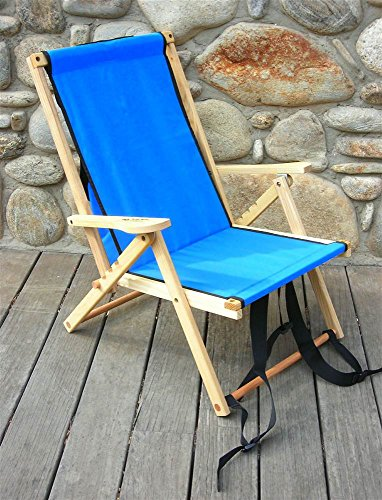Ridge Furniture Blue (Blue Ridge Home Fashion Back Pack Folding Chair in Atlantic Blue)
