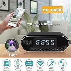 AllGreen HD 1080P WiFi Alarm Clock Camera Hidden Camera Night Vision Motion Detection Recording Home Surveillance Secret Camera Spy Camera Nanny Cam