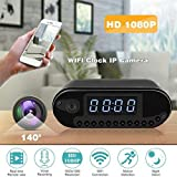 AllGreen HD 1080P WiFi Alarm Clock Camera Hidden Camera Night Vision Motion Detection Recording Home Surveillance Secret Camera Spy Camera Nanny Cam