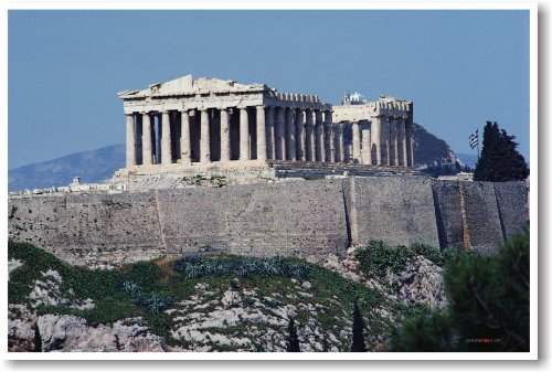 Ancient Greek Temple Ruins - Close Up - NEW World Travel Poster