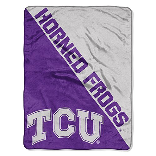 The Northwest Company Officially Licensed NCAA TCU Horned Frogs Halftone Micro Raschel Throw Blanket, 46