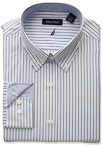 Button Down Striped Dress Shirt - 7