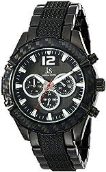 Joshua & Sons Men's JS98BK Analog Display Japanese Quartz Black Watch