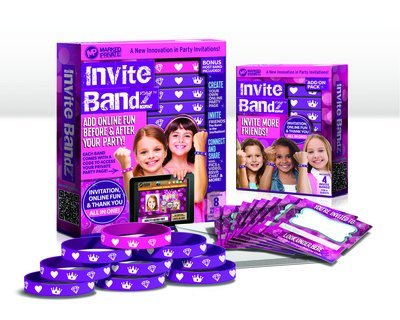 Invite Bandz 8 Bands Invitation Online Fun & Thanks you All in one Princess Bands by Marked Private