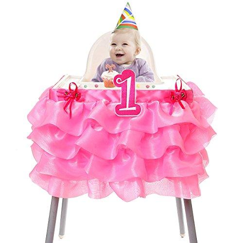 Hb Hbb Magic 1St Birthday High Chair Tutu Skirt Baby Girls High Chair Decoration